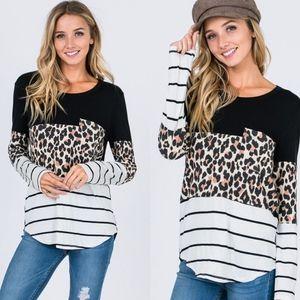 BRITNEE Leopard Print Top